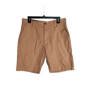 Grayers Clothiers Brown Cotton Linen Shorts 32